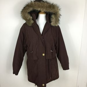 Basic Editions Brown Winter Coat